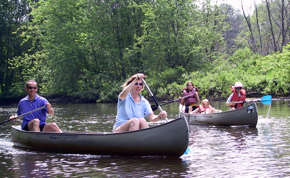 Canoers on the Concord River