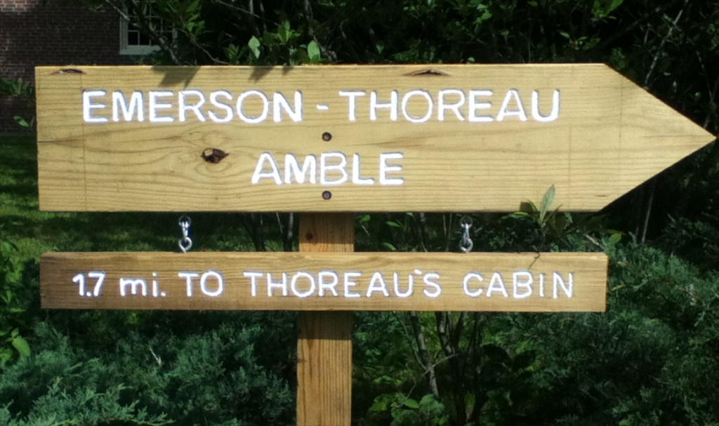 Emerson-Thoreau Amble Sign