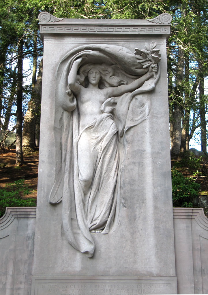 """Mourning Victory,"" Melvin Memorial, Sleepy Hollow Cemetery, Concord MA"