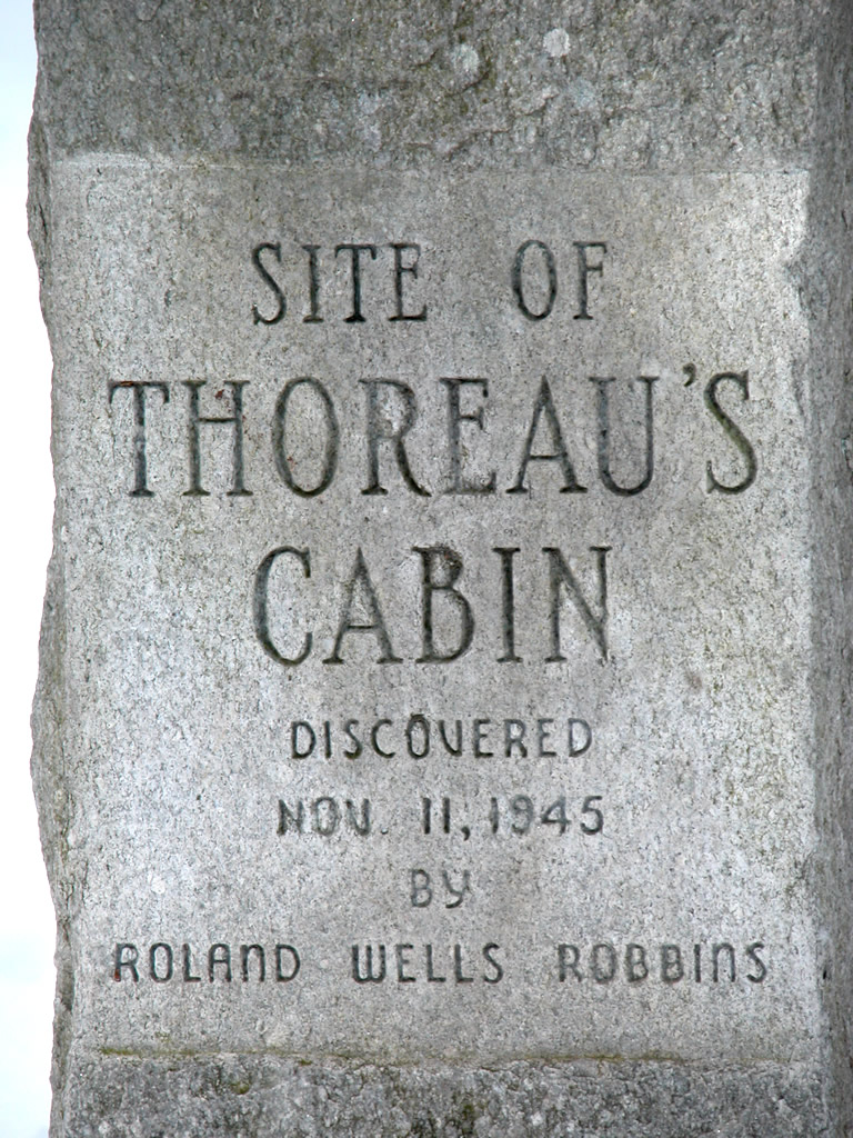 Inscription at Site of Throeau's Cabin
