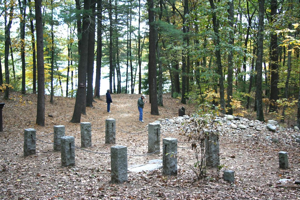Site of Thoreau's cabin at Walden Pond
