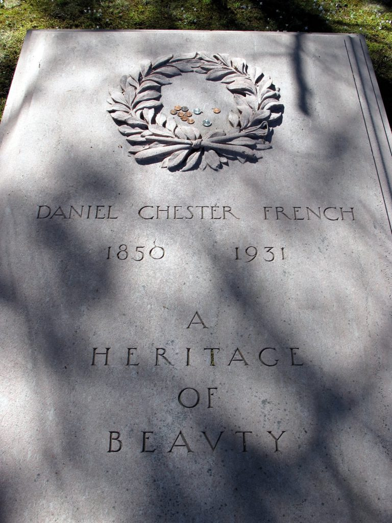 Daniel Chester French grave in Sleepy Hollow Cemetery