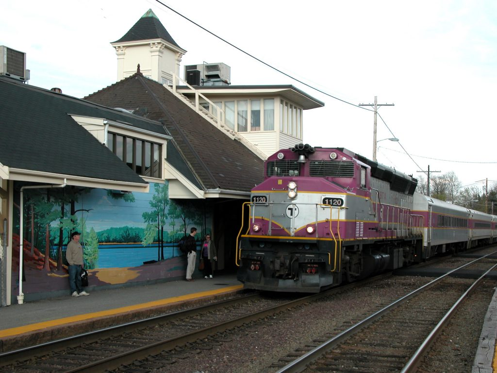Fitchburg train at Concord Depot