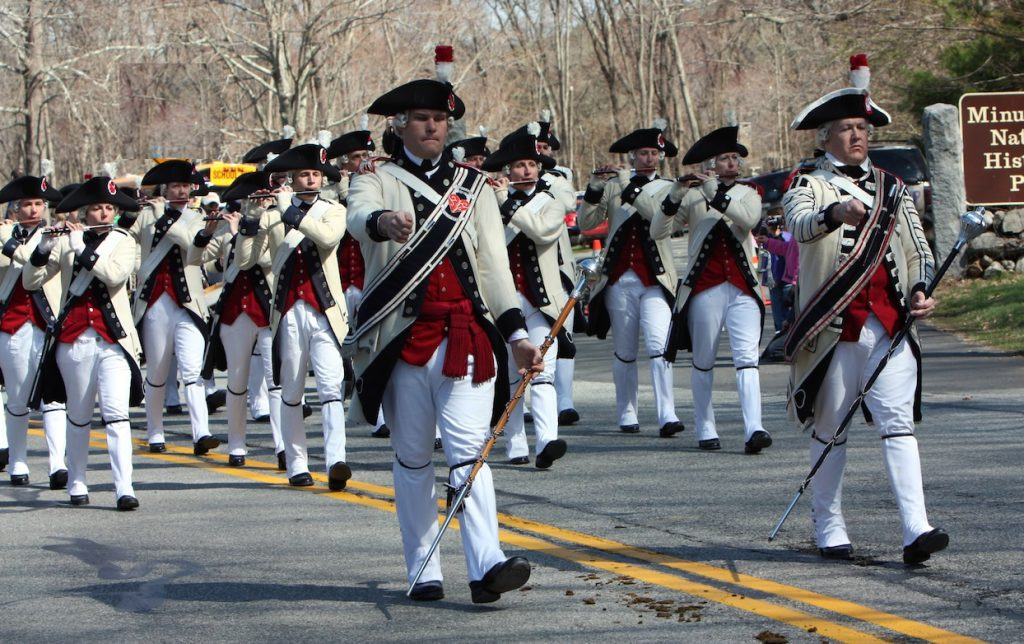 Middlesex County Volunteers marching band