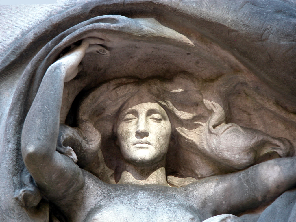 Mourning Victory detail, Melvin Memorial