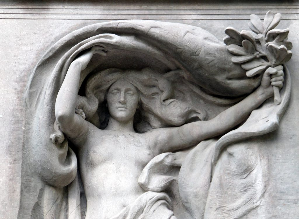 Mourning Victory, Melvin Memorial, Sleepy Hollow Cemetery, Concord MA