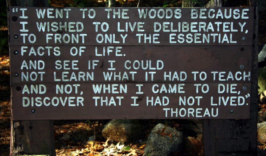 Quotation by Thoreau