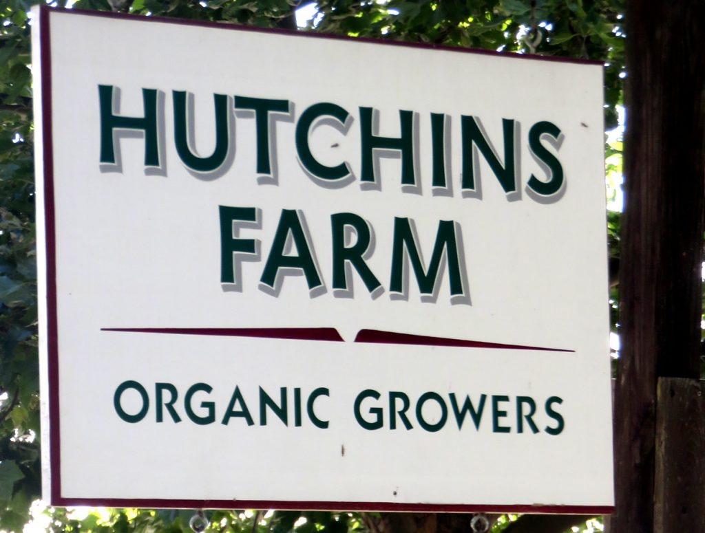 Hutchins Farm sign
