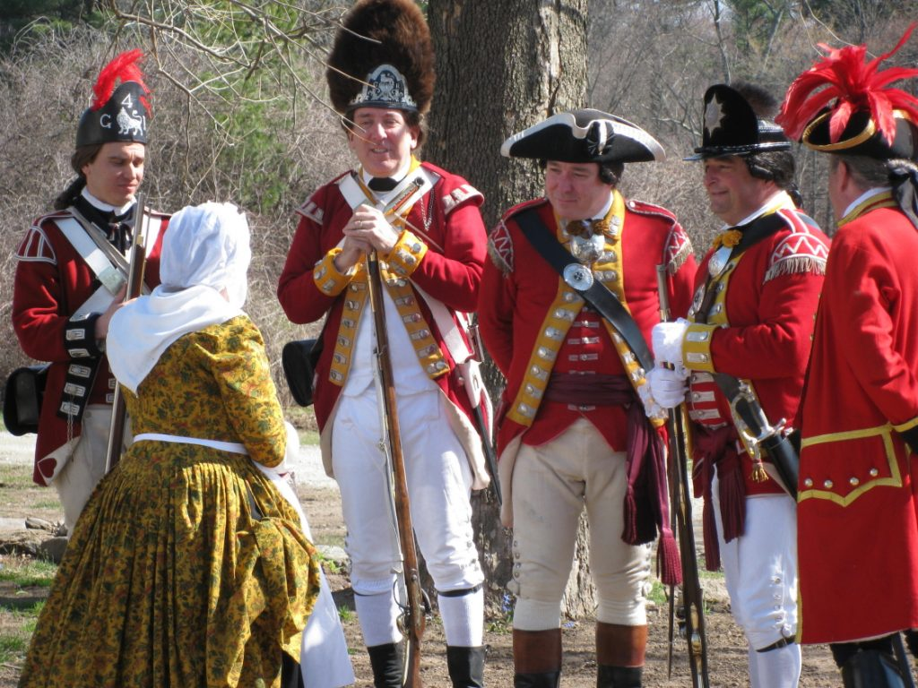 Redcoats question Ms Barrett on Patriots Day