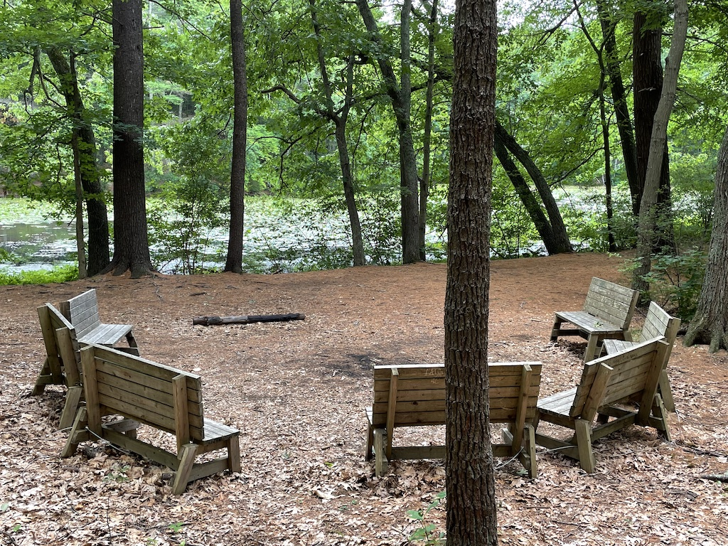 Benches at Fairyland Pond